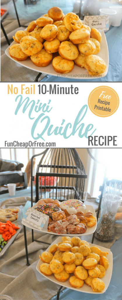 No Fail 10-Minute Mine Quiche Recipe | FunCheapOrFree.com