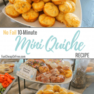 No fail, 10-Minute Mini Quiche Recipe