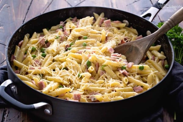 One-Pot Ham and Penne Skillet Recipe