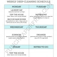 Deep clean your house with 1 chore per day
