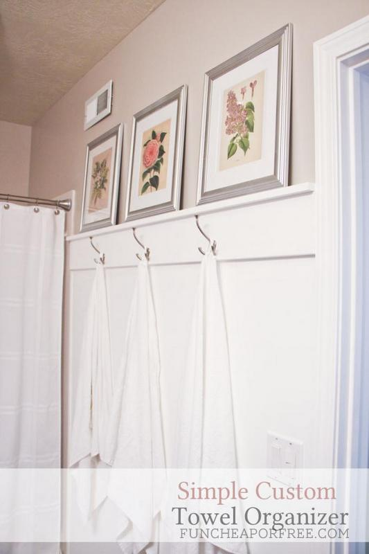 DIY wall accent for towel hooks