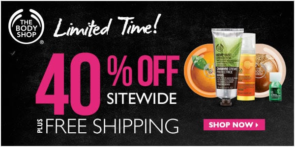 9712bdeea6 The Body Shop discount: 40% off + free shipping! - Fun Cheap or Free