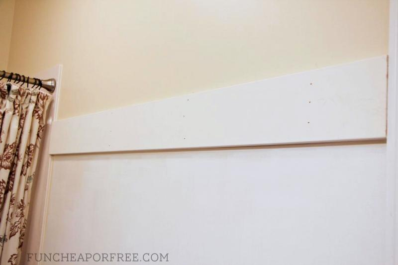 DIY bathroom moulding
