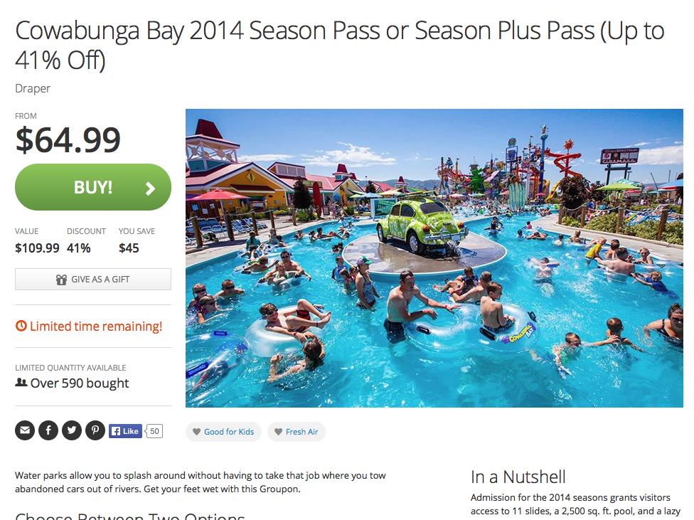 Cowabunga Bay discounts