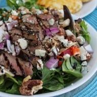 Sliced Steak Salad + Horseradish Dressing Recipe (Restaurant Copycat!)