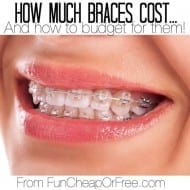 How much braces cost (or Invisalign)…and how to budget for them!