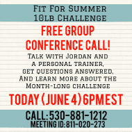 10lb Challenge Group Conference Call TODAY 6EST !