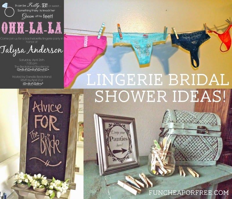 Lingerie Bridal Shower Ideas Fun Cheap