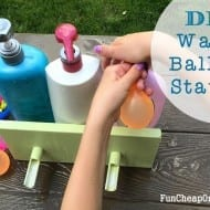 DIY Water balloon station using empty shampoo & soap bottles