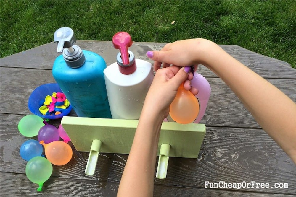 DIY water balloon filler station, from Fun Cheap or Free