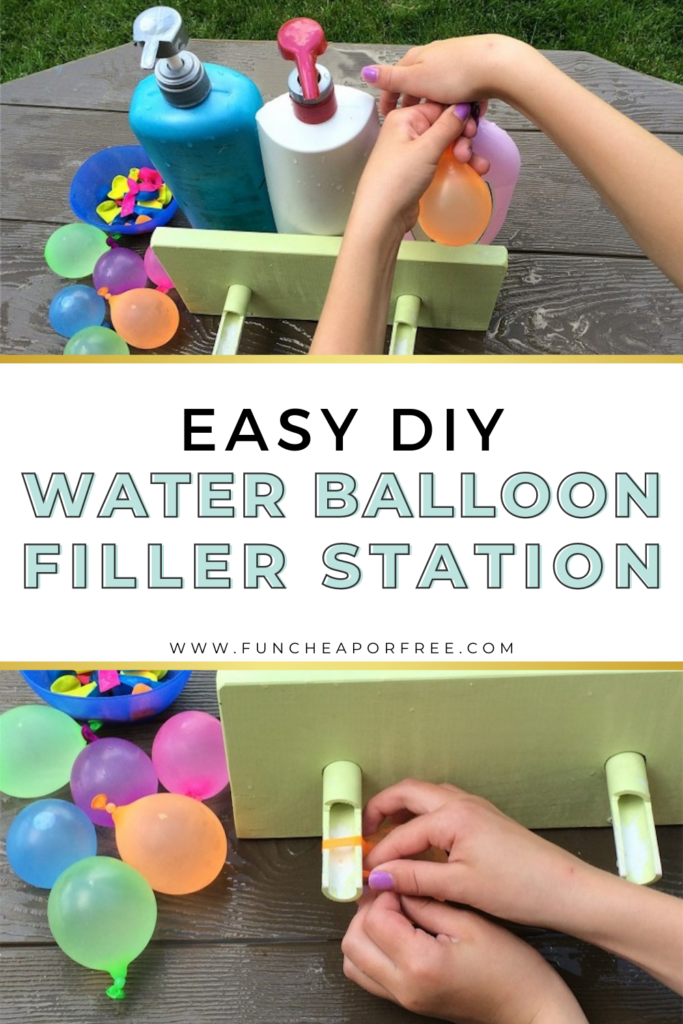 Easy water balloon filler station outside, from Fun Cheap or Free