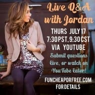 Live Q&A with a frugal living expert/blogger!