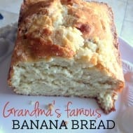 Grandma's Famous Banana Bread Recipe