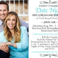 Fancy Finance Date Night with Jordan and Bubba Page of FunCheapOrFree.com. Great, fun way to get your finances in order with help of experts!