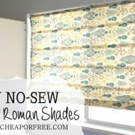 Easy DIY No-Sew Roman Shades
