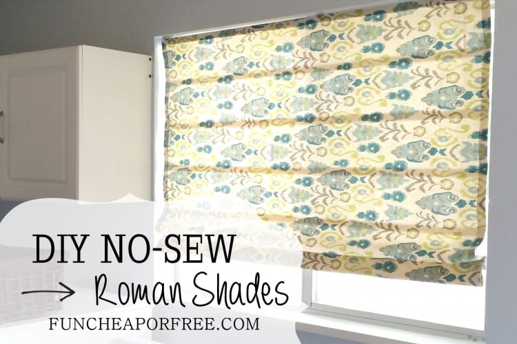 DIY no-sew Roman shades, from FunCheapOrFree.com