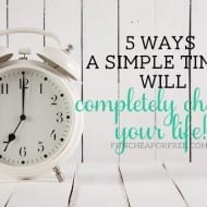 5 clever ways to use a timer throughout your day to make your life MUCH easier, from FunCheapOrFree.com