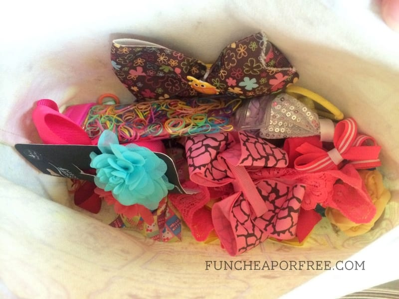 "Keep a ""hair bag"" handy to tame kids' hair on the go!"