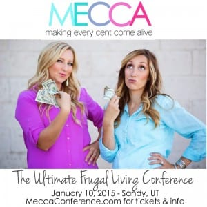 MECCA conference: an all-day conference teaching all things budgeting, finance, and how to find a good deal on ANYTHINg. Jan 10 in SLC Ut, tickets $49 or less!