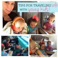 Tips for traveling [SOLO!] with young kids! from FunCheapOrFree.com