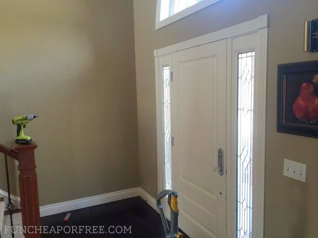 Affordable way to dress up an entryway, from FunCheapOrFree.com