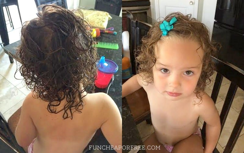 Taming curling toddler hair!