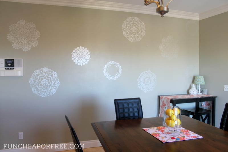 How to stencil walls and make a huge impact (on a budget)!