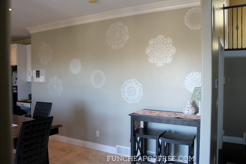 How to wall stencil - affordable way to make a huge impact