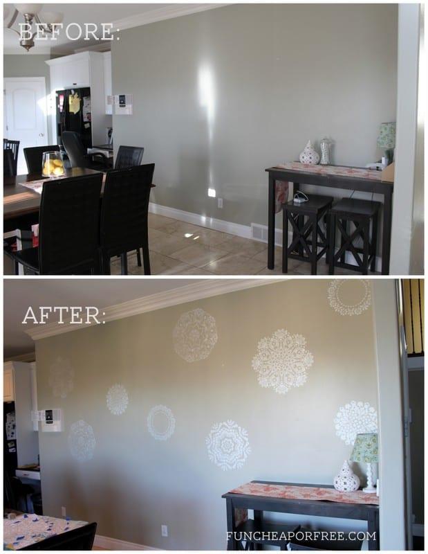 Doily Wall Stencil Kitchen Accent Super Easy To Do