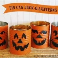 Tin Can Jack-O-Lanterns: Fun Halloween Craft!