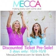 MECCA discounted tickets NOW AVAILABLE, 3 days only!