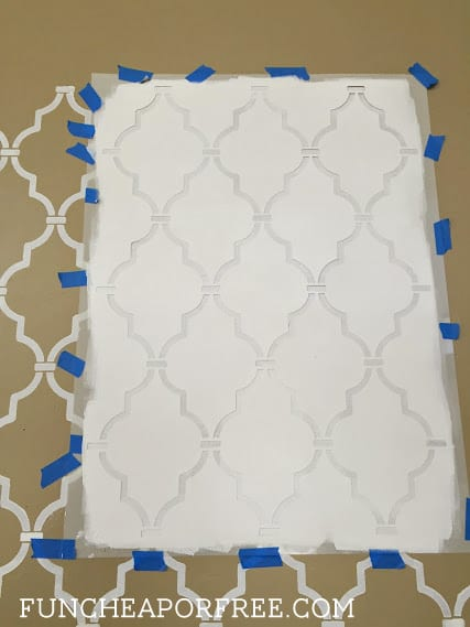 DIY quatrefoil wall stencil tutorial from FunCheapOrFree.com. SUPER easy to do!