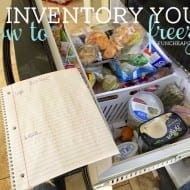 Date your freezer lately? Freezer inventory 101: printable included!