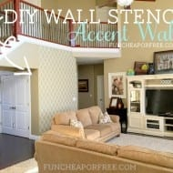 DIY quatrefoil wall stencil tutorial from FunCheapOrFree.com...SO EASY, big impact!