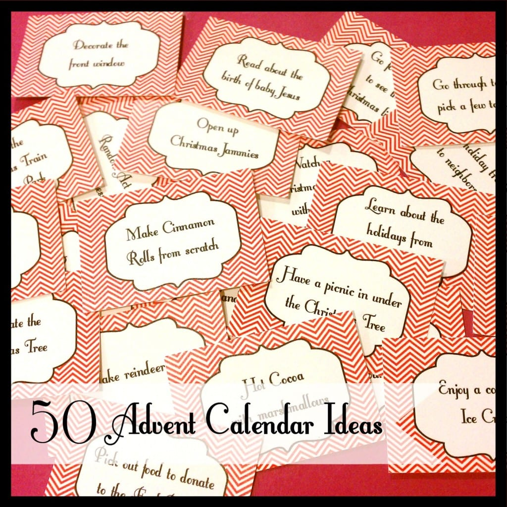 Advent Calendar List Ideas : The best advent calendar christmas activities for kids