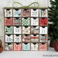 DIY easy advent calendar...all you need is scrapbook paper! From FunCheapOrFree.com