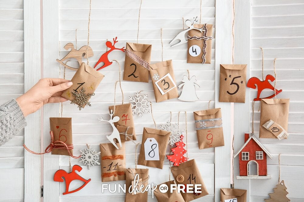 Advent calendars in envelopes, from Fun Cheap or Free