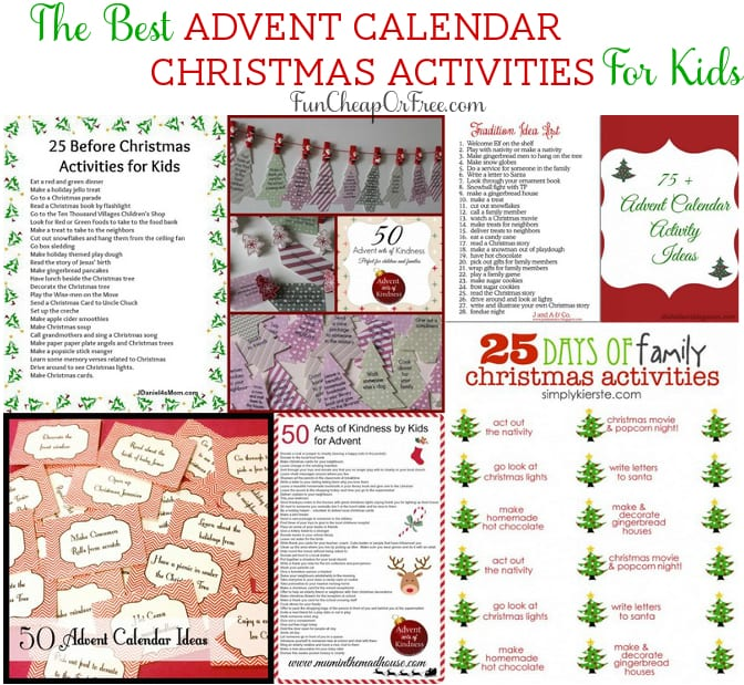 Christmas Calendar Ideas : The best advent calendar christmas activities for kids