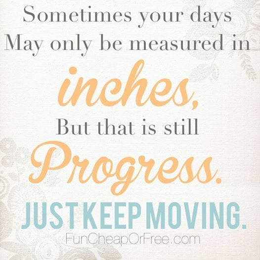 Just keep moving.