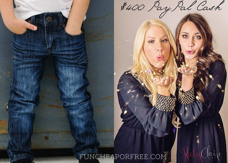 Giveaways: Designer boy jeans for you + a friend, AND $400 cash!