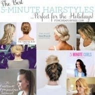 The best 5-minute hairstyles, perfect for the Holidays! From FunCheapOrFree.com