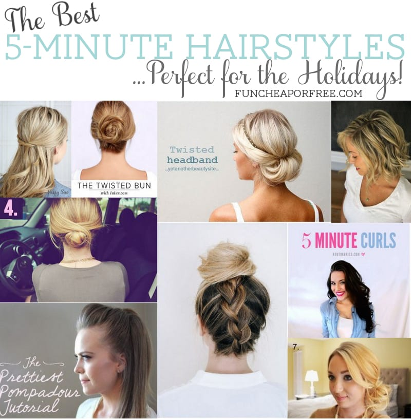 5 minute hairstyles Perfect for the Holidays Fun