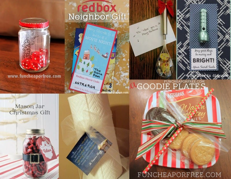 25 easy $1 neighbor gift ideas! So cute and clever! From FunCheapOrFree.com