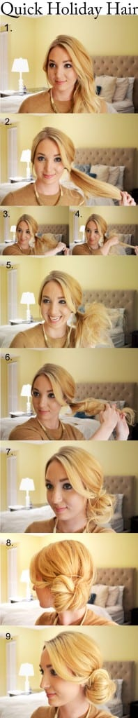 Quick-Holiday-Hair-the-perfect-low-side-bun-DIY-Hairstyle-Haircuts-Step-By-Step-Hair-Tutorial