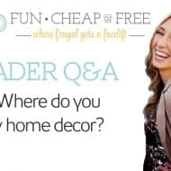 Q&A: Where do you buy home decor?