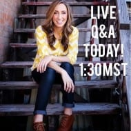 Live Q&A TODAY 1:30MST…let's hang out!