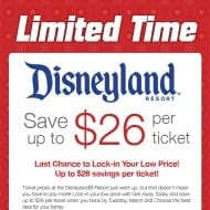 Disneyland ticket price increase! – get discount until March 3 O..