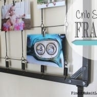 Crib Spring Picture Frame DIY! (the ultimate up-cycle)