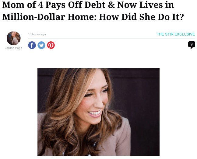 Living Frugal column at TheStir.com