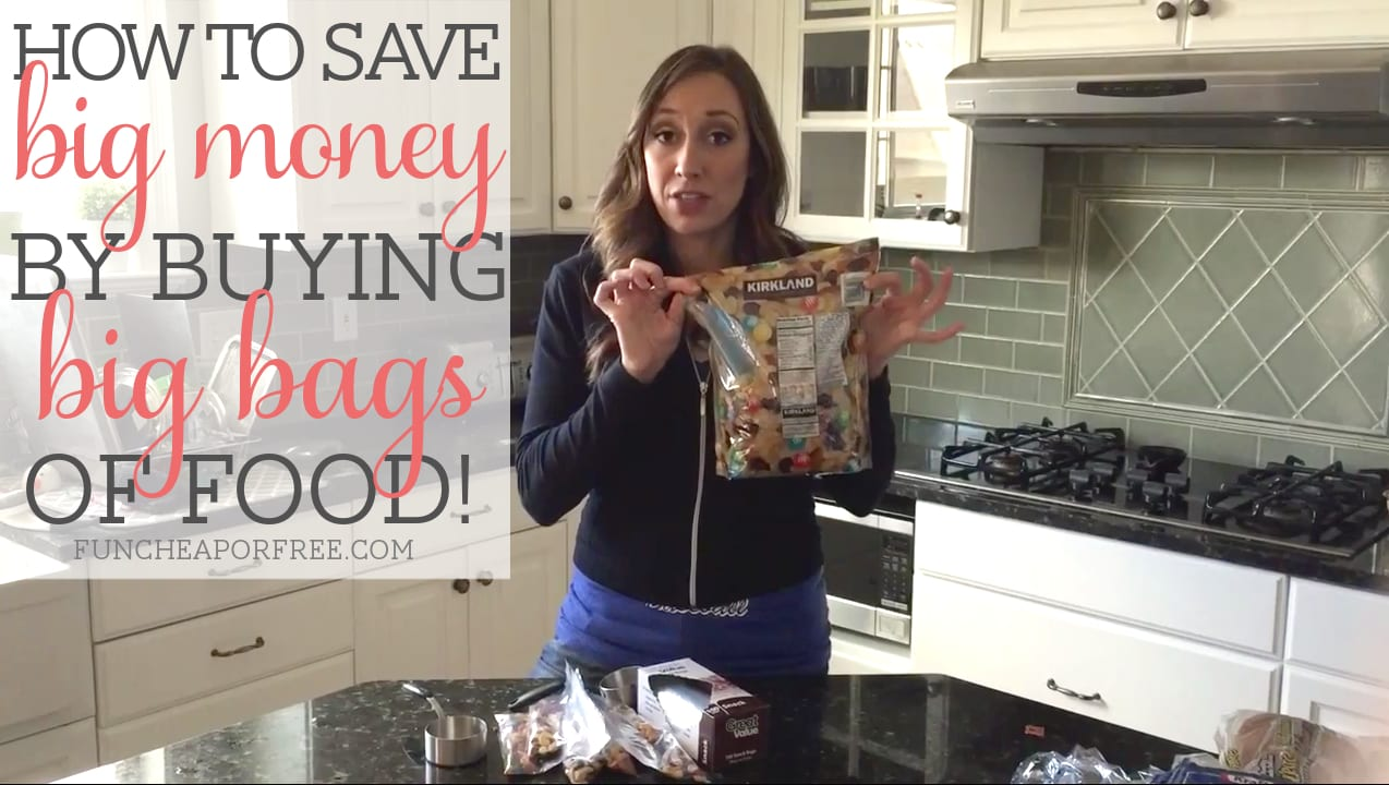 How buying BIG bags of food can save you BIG money (quick video tip) from FunCheapOrFree.com